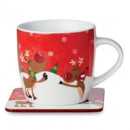 """Ziemassvētku krūzīte ar paliktni """"Ren Mug"""""""