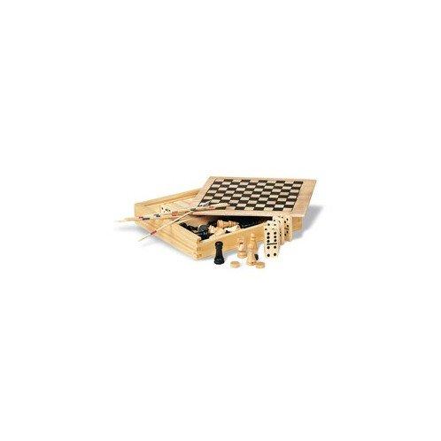 4 spēles koka kastītē